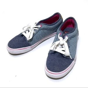 Levi's Womens 9.5 Blue Pink Sneakers